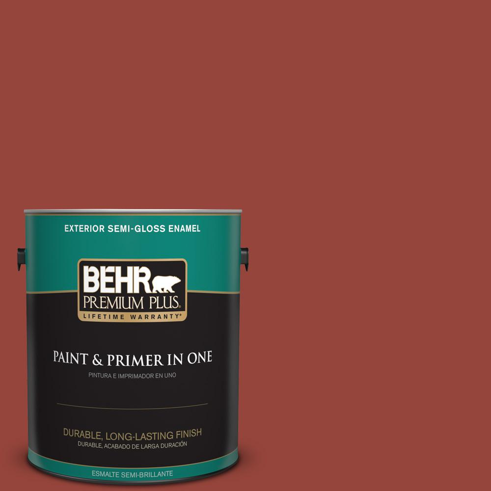 1 gal. #PPU2-17 Morocco Red Semi-Gloss Enamel Exterior Paint