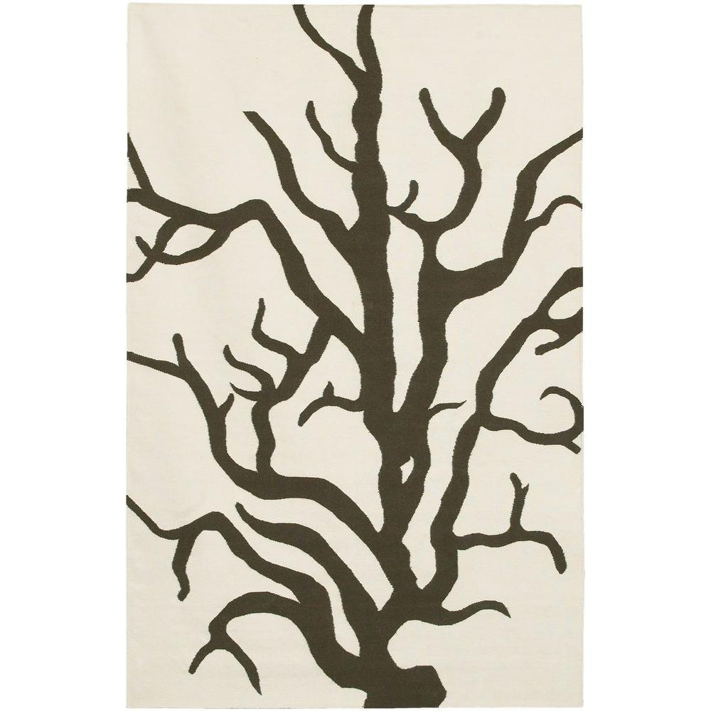 Chandra Thomaspaul Cream/Brown 5 ft. x 7 ft. 6 in. Indoor Area Rug
