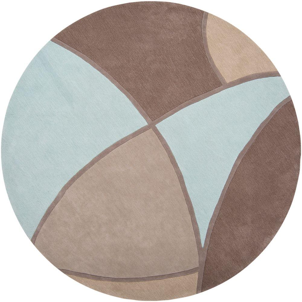Artistic Weavers Carter Gray 8 ft. x 8 ft. Round Area Rug