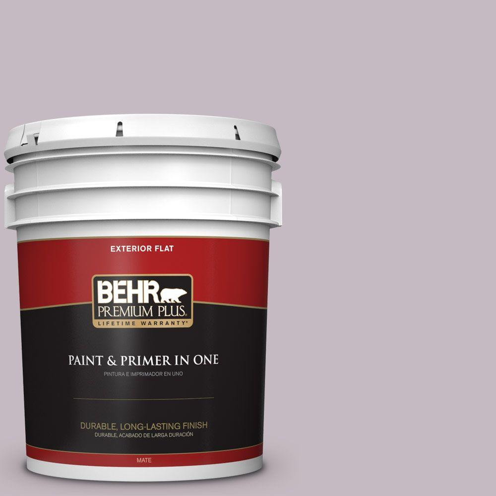 5-gal. #N110-2 Mulberry Stain Flat Exterior Paint