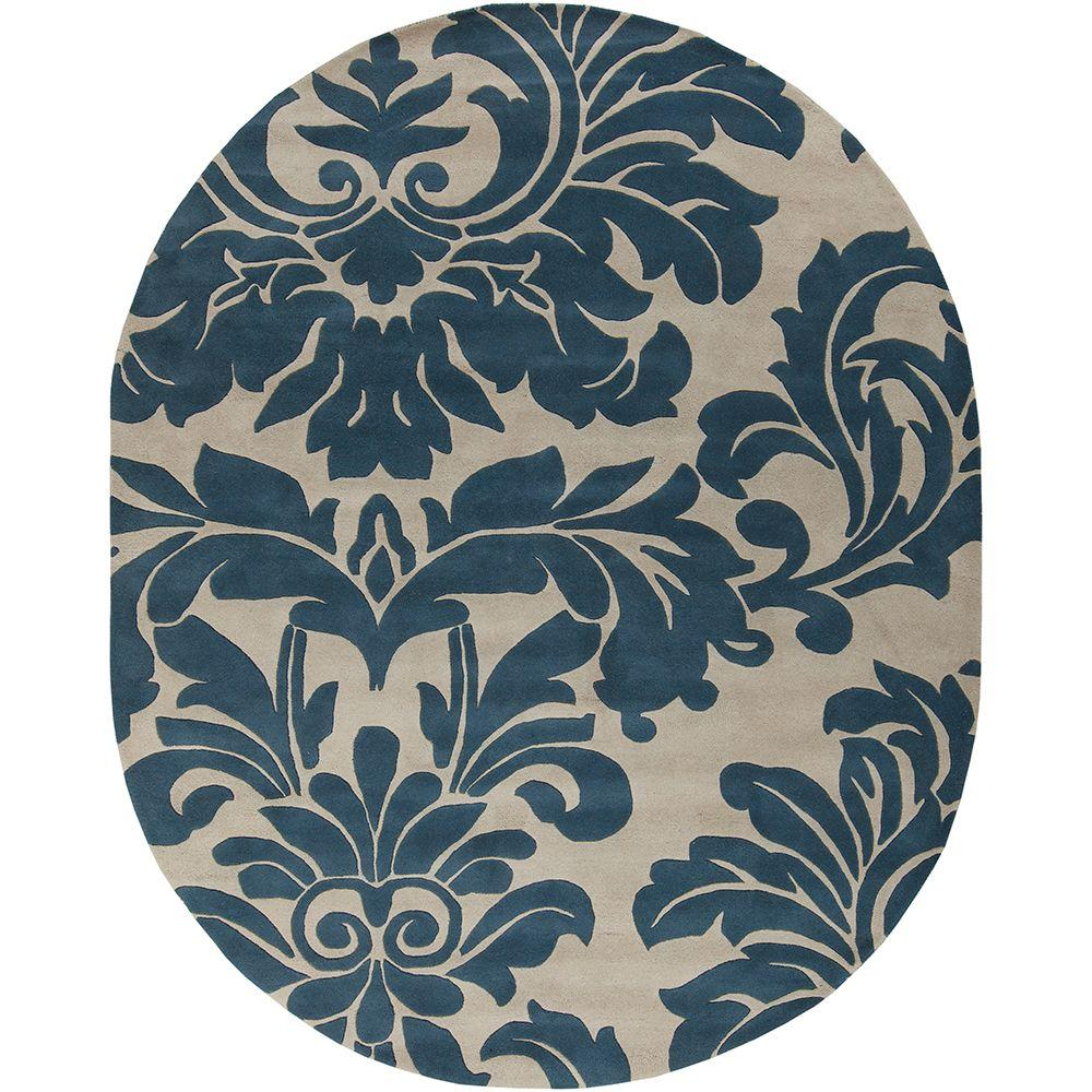Bellaire Blue 8 ft. x 10 ft. Oval Indoor Area Rug