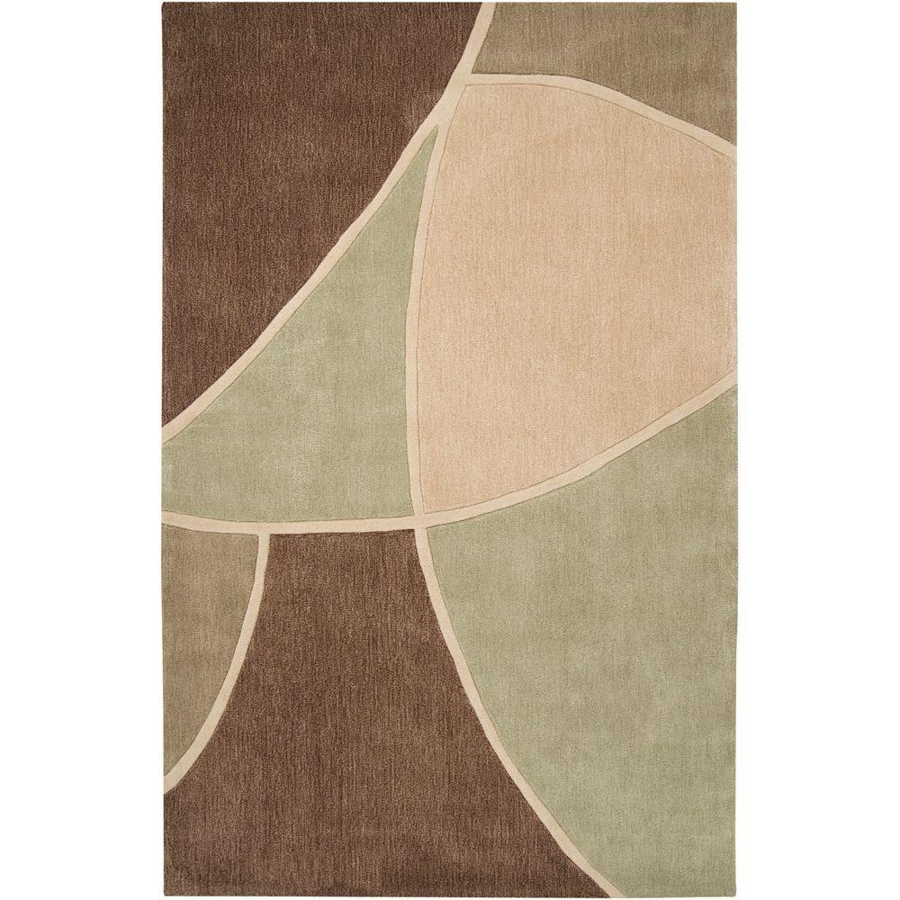 Artistic Weavers Carter Brown 5 ft. x 8 ft. Area Rug-MERE-8893
