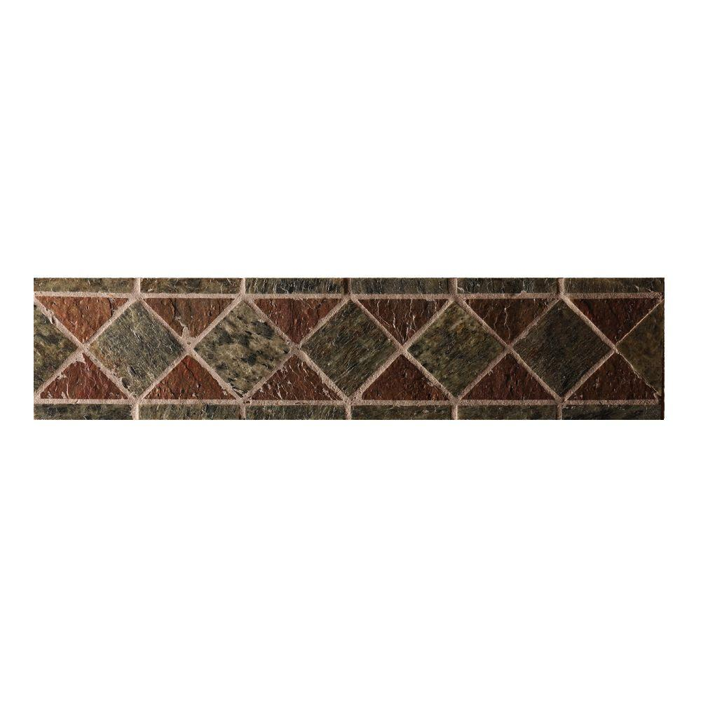 SoterraSlate 4 in. x 18 in. Design Strip in Rustic Enhanced 8-Pack-DISCONTINUED