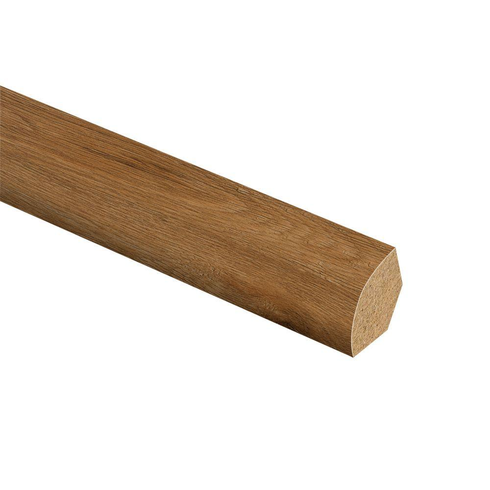 Gunstock Oak 5/8 in. Thick x 3/4 in. Wide x 94 in. Length Vinyl Quarter Round Molding