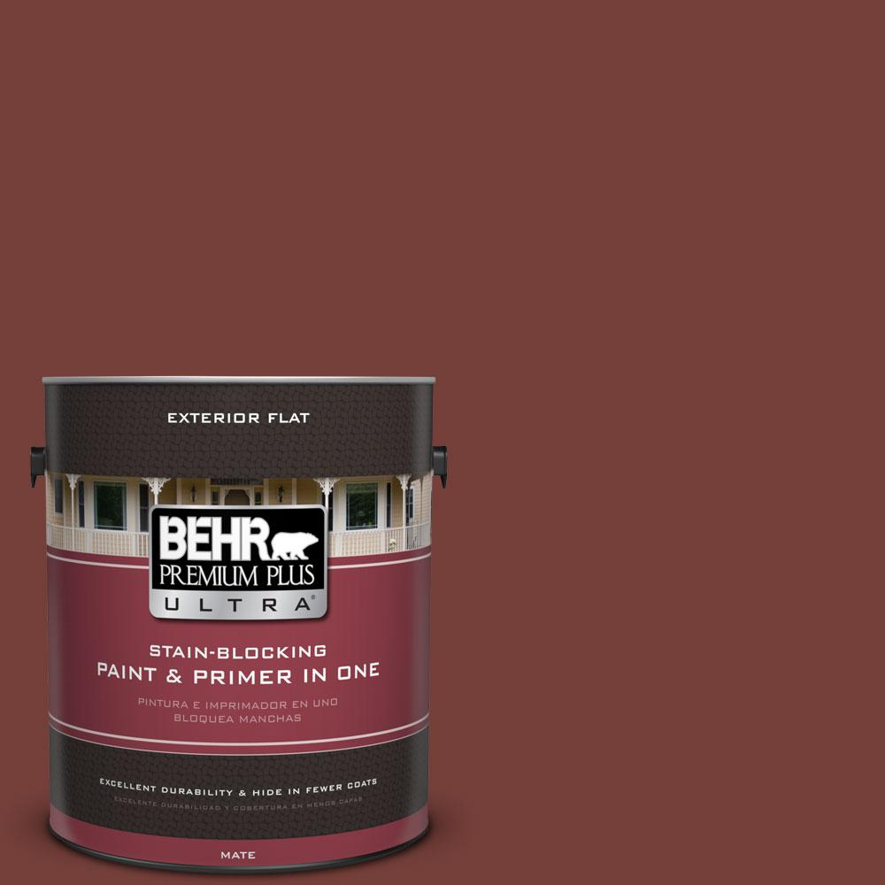 1-gal. #BXC-76 Florence Red Flat Exterior Paint
