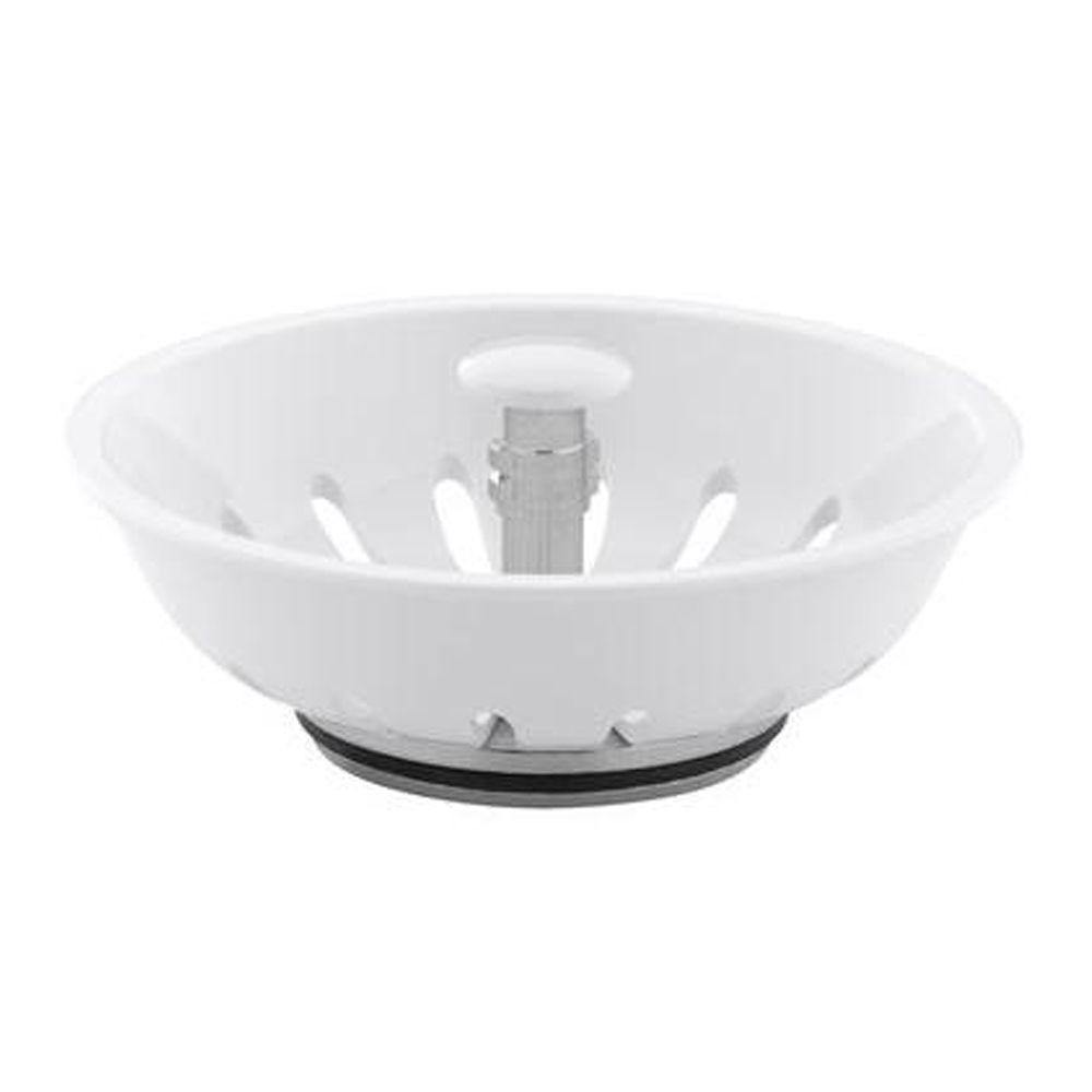 Duo-Strainer Basket Strainer in White for K-8804 Duo-Strainer body