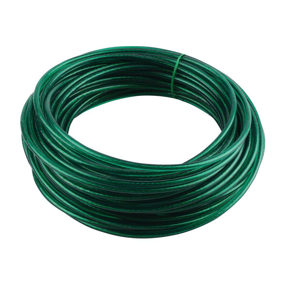 Crown Bolt 5/32 in. x 100 ft. Green Vinyl Coated Wire Clothesline
