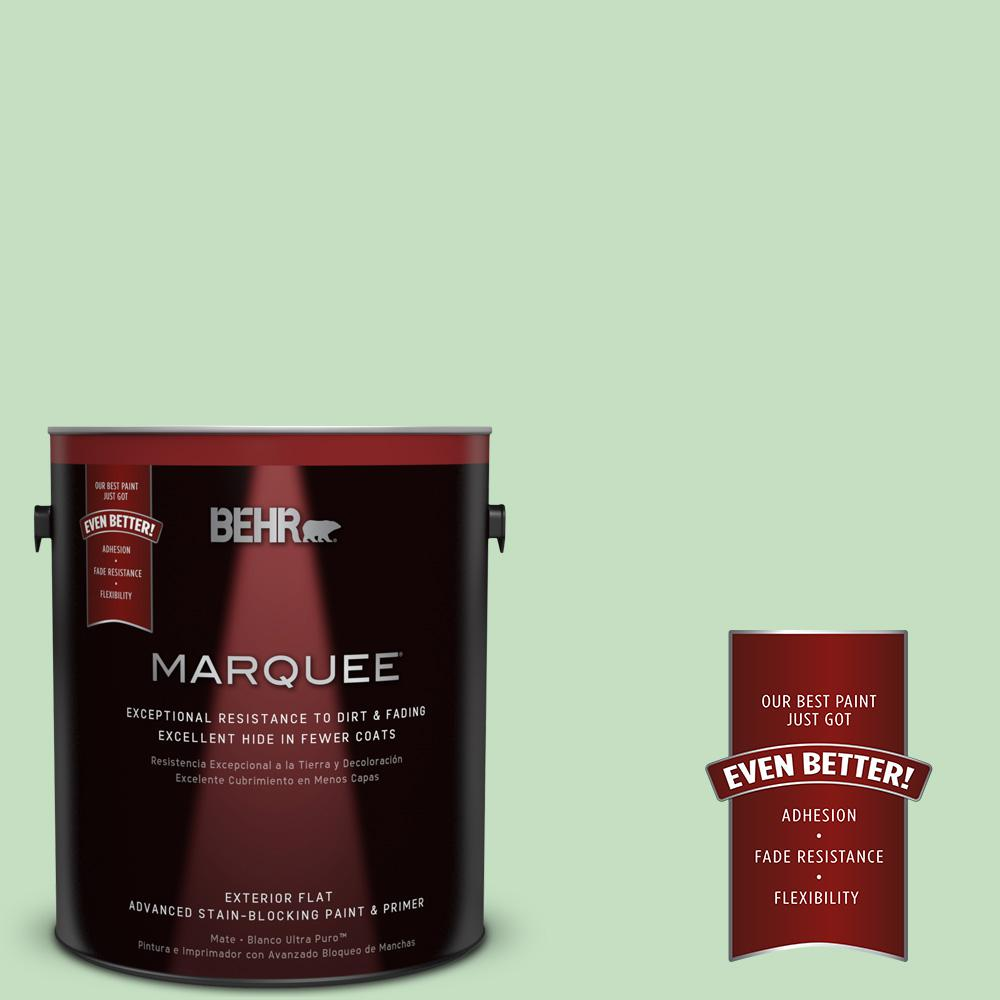 BEHR MARQUEE 1-gal. #450C-3 Green Myth Flat Exterior Paint