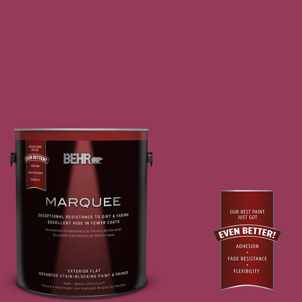 1-gal. #110B-7 Raspberry Pudding Flat Exterior Paint