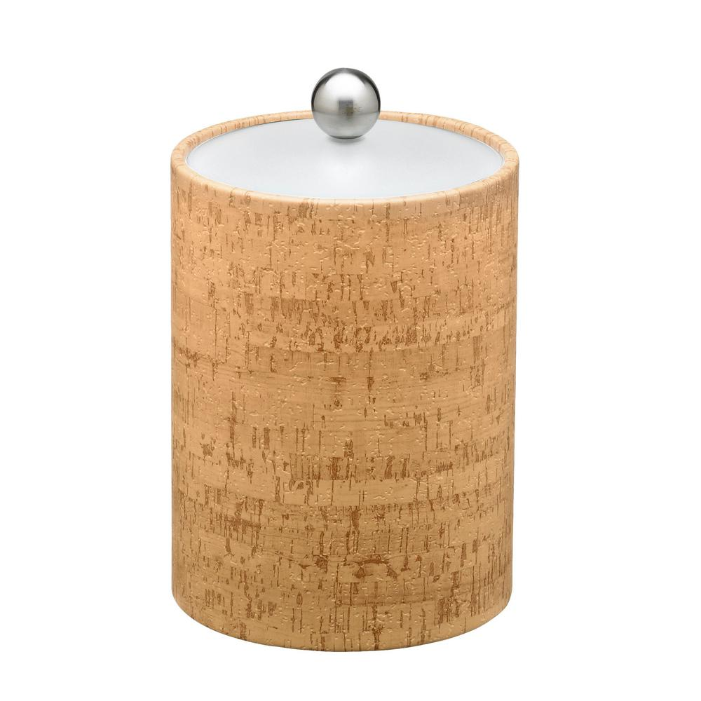 Natural Cork Tall 2 Qt. Ice Bucket with Lucite Lid