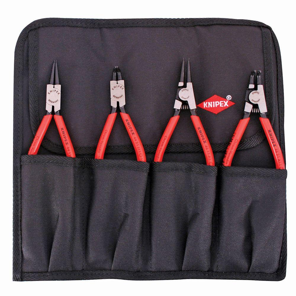 KNIPEX 4-Piece Circlip Snap with Ring Set In Pouch