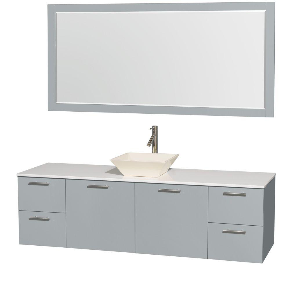 Wyndham Collection Amare 72 in. W x 22 in. D Vanity