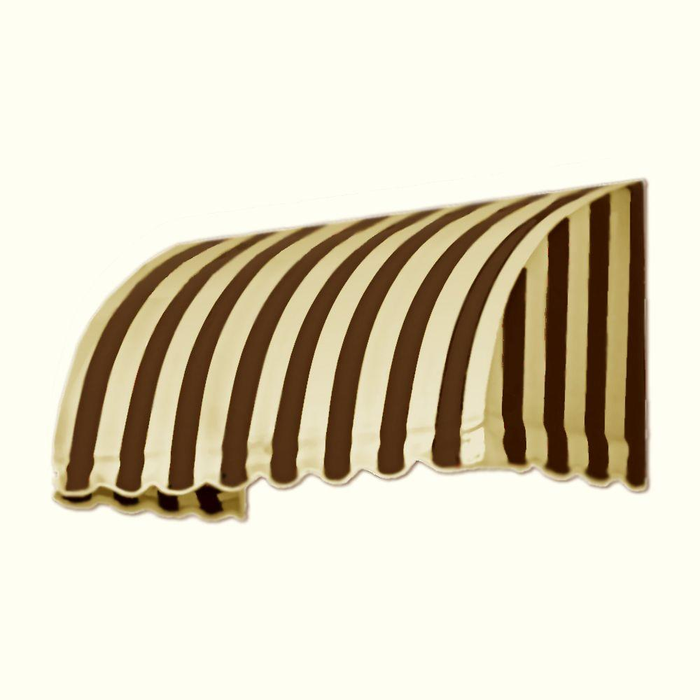 AWNTECH 8 ft. Savannah Window/Entry Awning (44 in. H x 36 in. D) in Brown/Tan Stripe