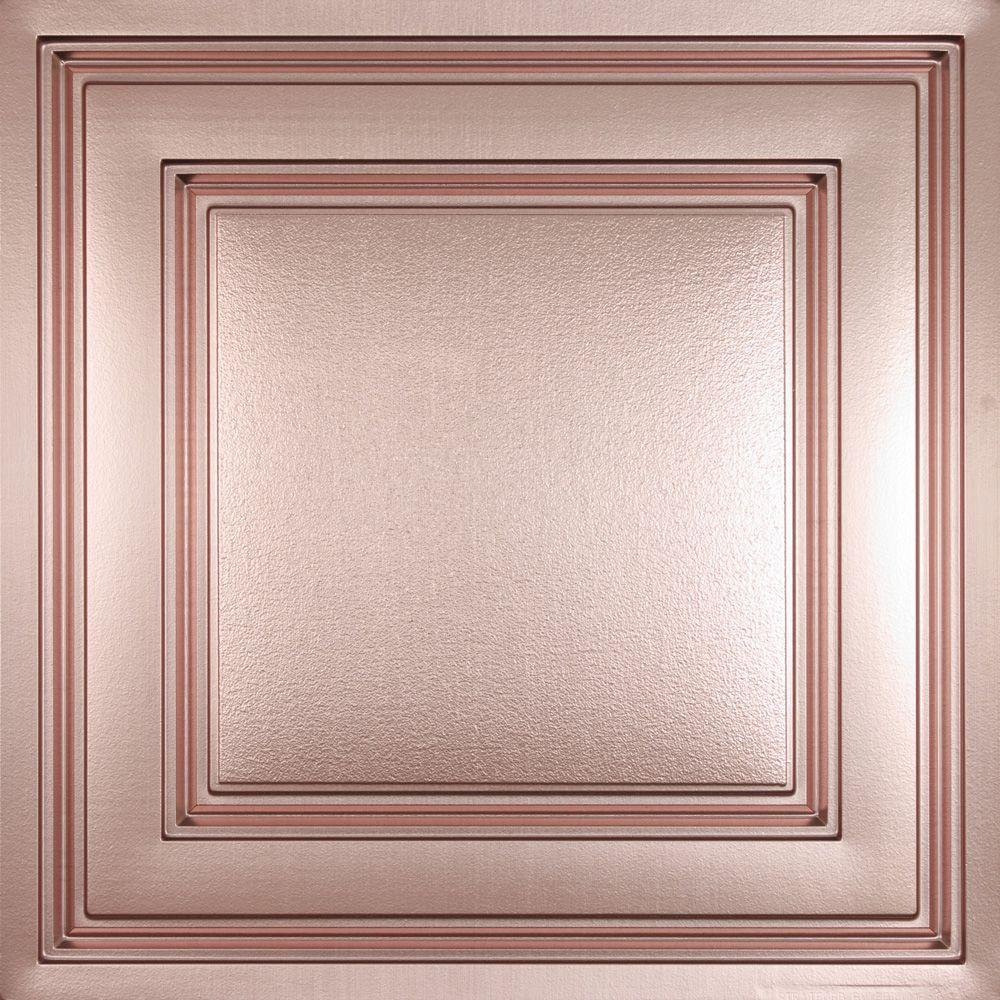 Ceilume Oxford Faux Copper 2 ft. x 2 ft. Lay-in Ceiling