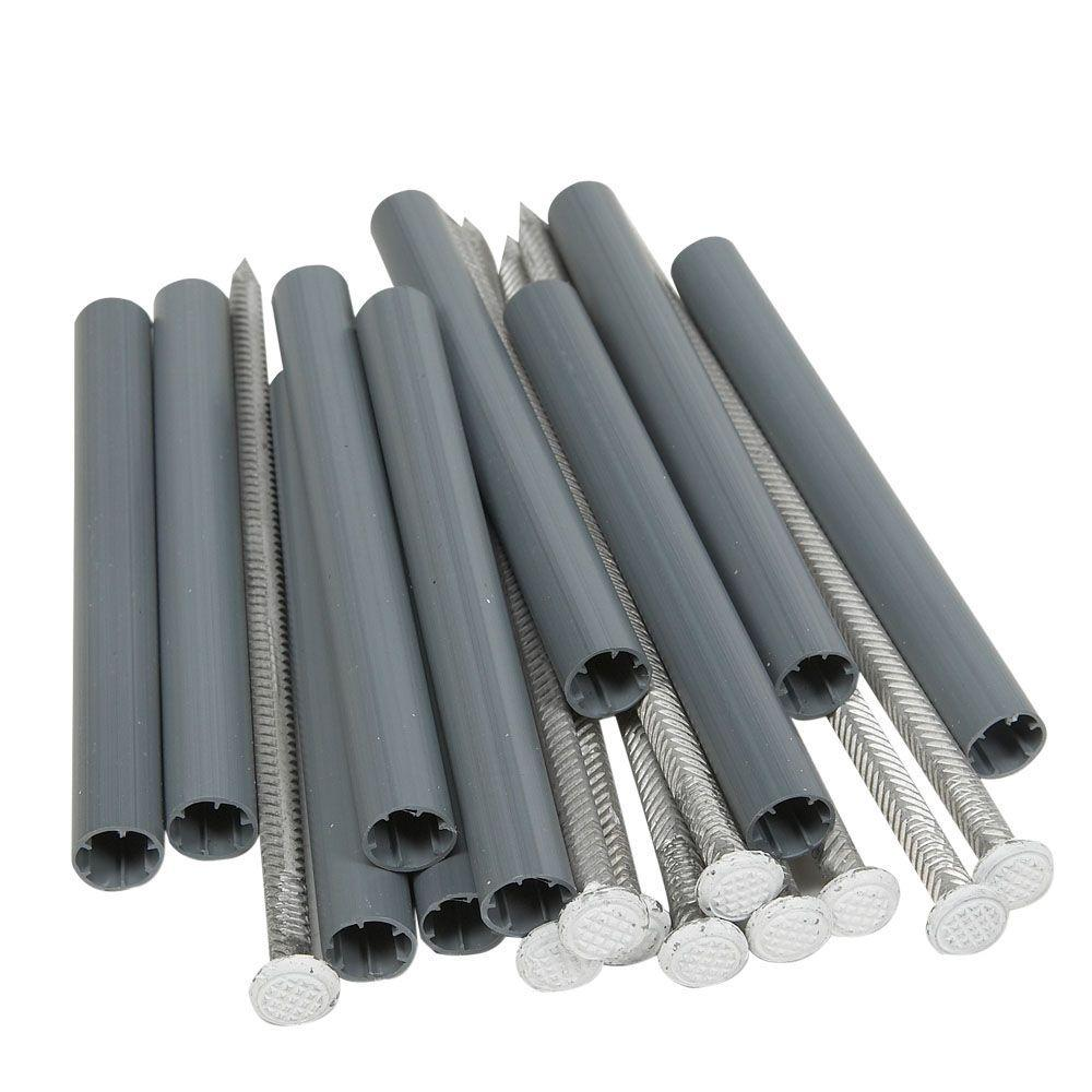 7 in. Aluminum Spikes and 5 in. Plastic Ferrules (10-Pack)