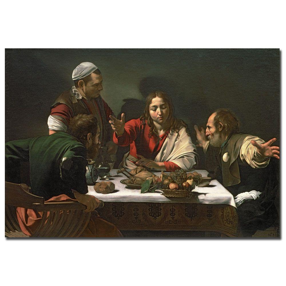 Trademark Fine Art 16 in. x 32 in. The Supper at Emmaus 1601 Canvas Art