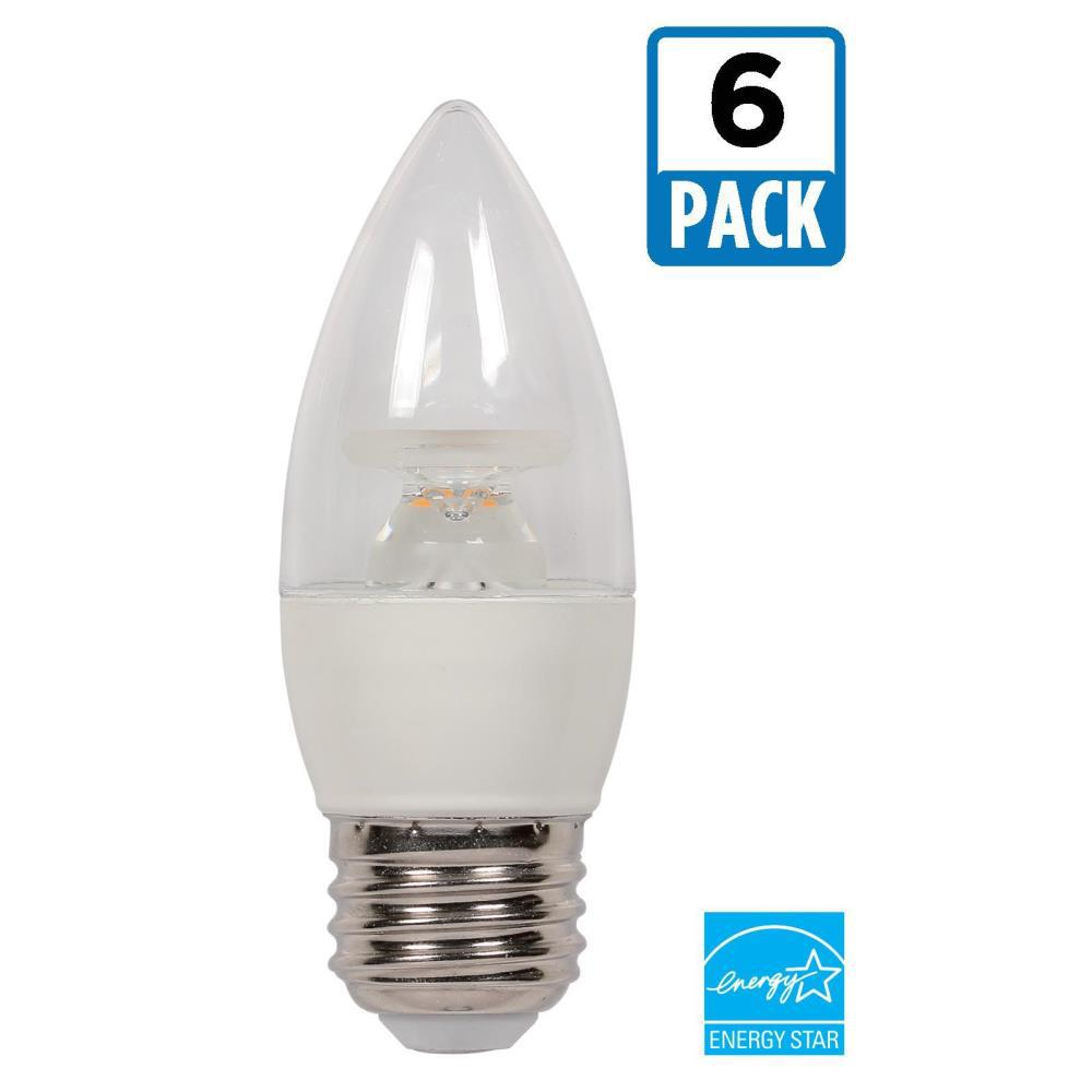 40W Equivalent Soft White B11 Dimmable LED Light Bulb (6-Pack)
