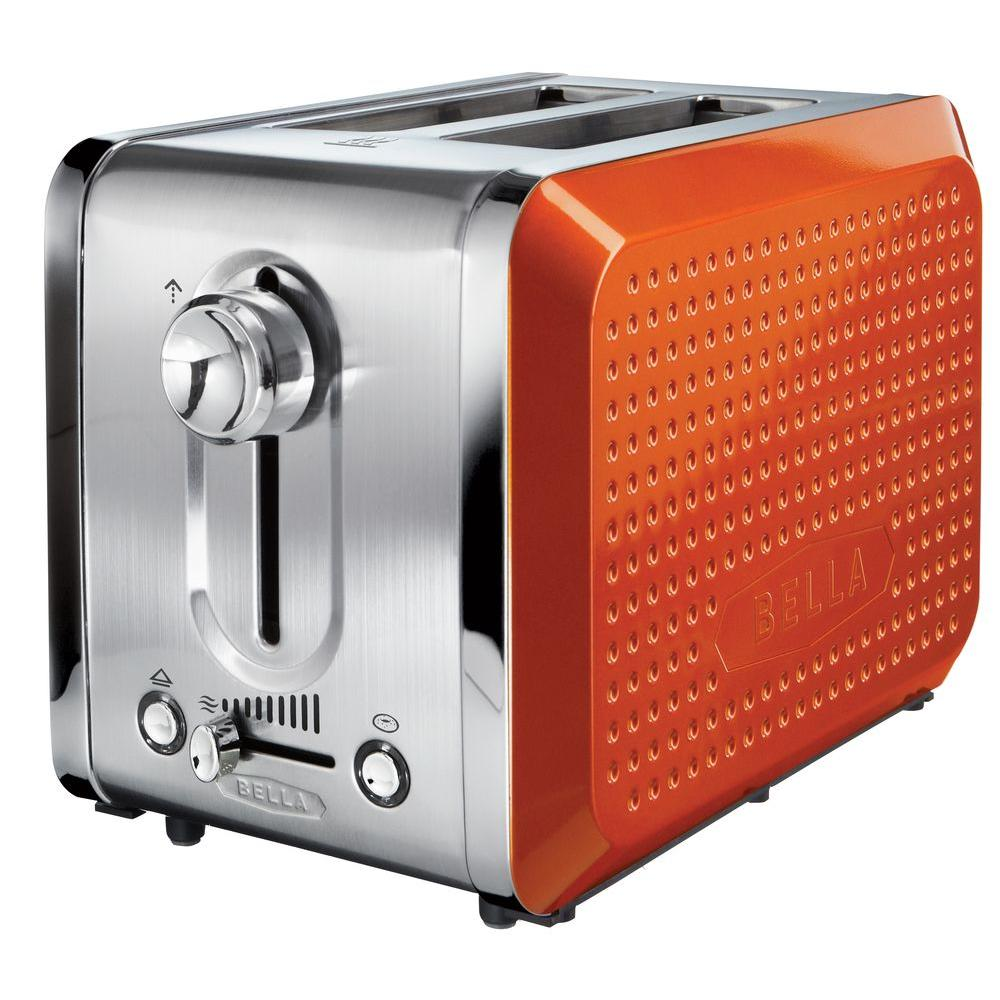 Bella Dots 2 Slice Toaster in Orange