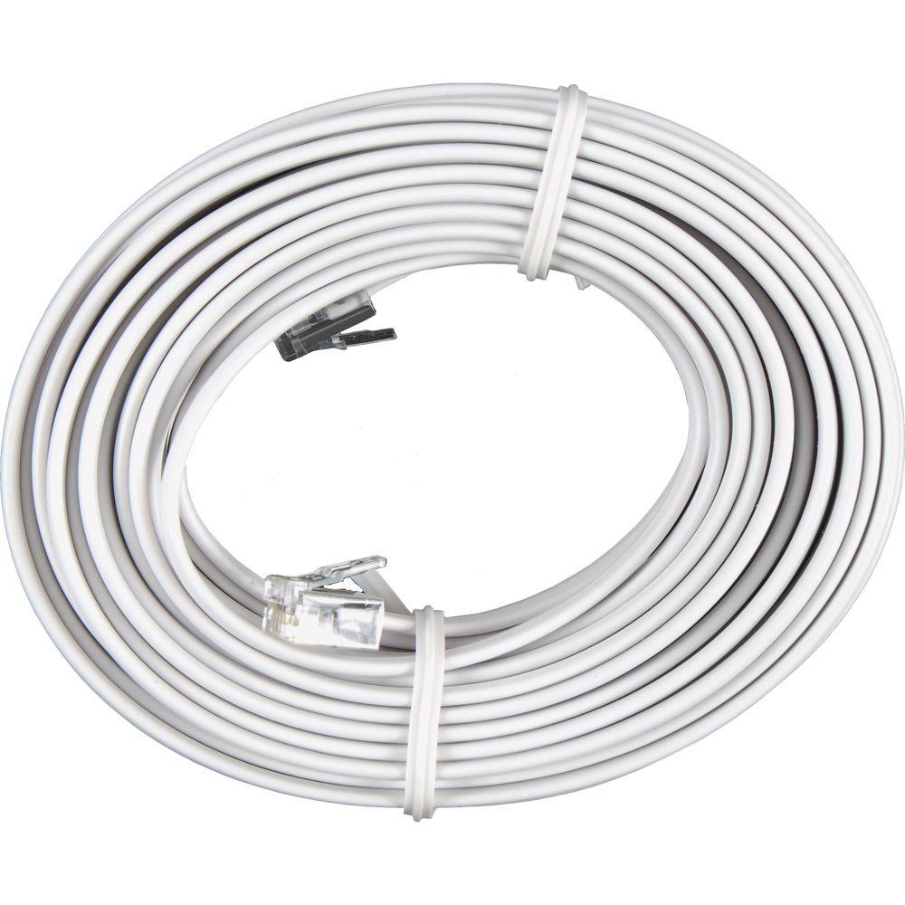 GE 25 ft. Phone Line Cord - White