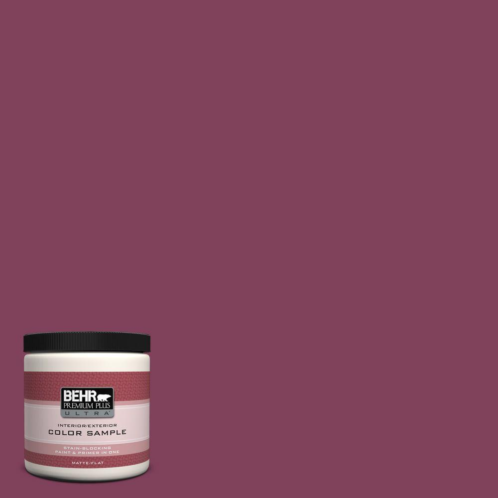 BEHR Premium Plus Ultra Home Decorators Collection 8 oz. #hdc-WR14-12 Cheerful Wine Flat/Matte Interior/Exterior Paint Sample