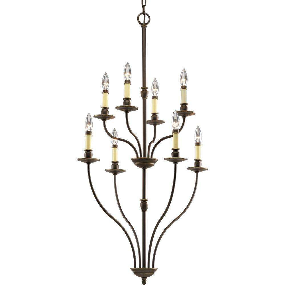 Progress Lighting Richmond Hill Collection Antique Bronze 8-light Chandelier-DISCONTINUED