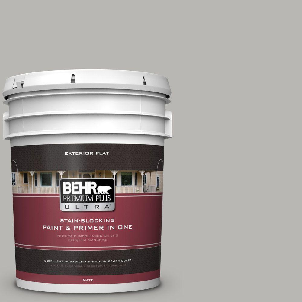 BEHR Premium Plus Ultra Home Decorators Collection 5-gal. #HDC-MD-26 Sonic Silver Flat Exterior Paint