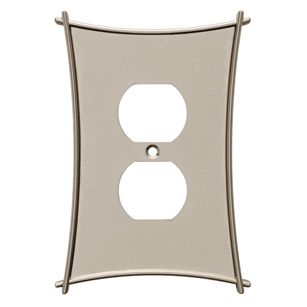 Liberty Bellaire 1 Duplex Wall Plate - Satin Nickel-W23366-SN-U - The