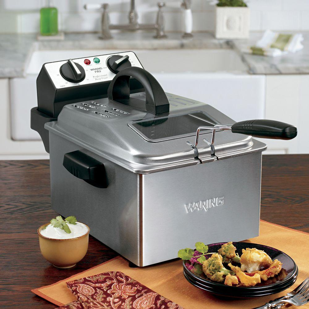 Waring Pro Professional Deep Fryer in Stainless-DF250B - The Home Depot