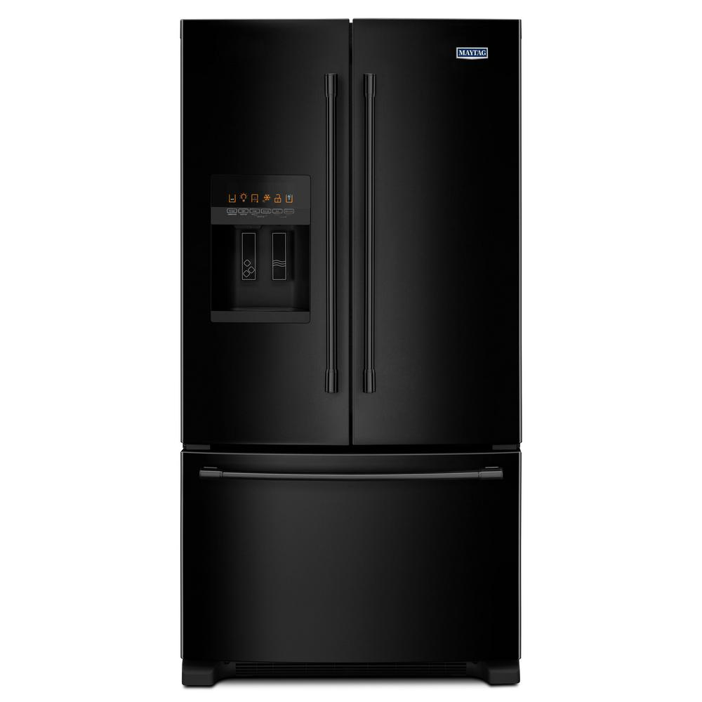 Maytag 36 in. W 25 cu. ft. French Door Refrigerator in Black