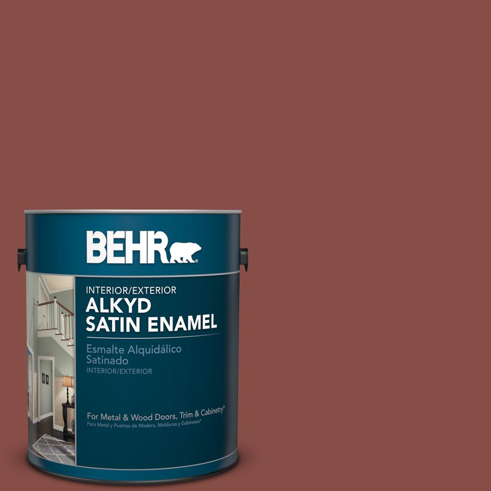 1 gal. #PPU2-18 Spice Satin Enamel Alkyd Interior/Exterior Paint