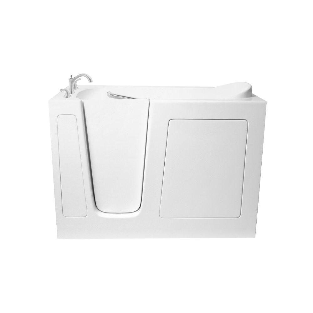 Air 5 ft. Walk-In Bathtub in White with Left Drain