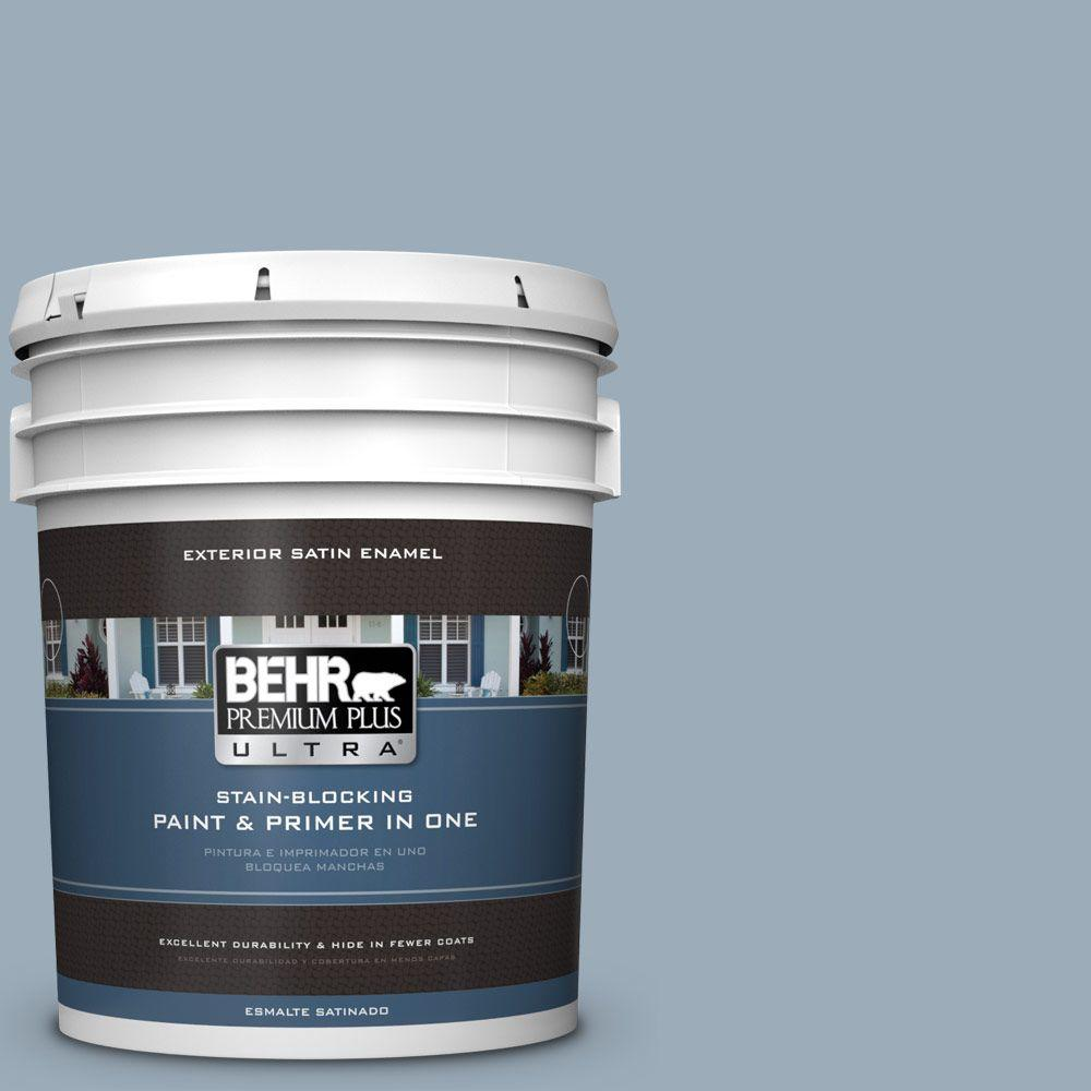 5-gal. #570F-4 Blue Willow Satin Enamel Exterior Paint
