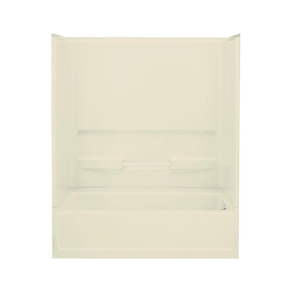 STERLING Advantage 30 in. x 60 in. x 72 in. Standard Fit Bath and Shower Kit with Right-Hand Drain in Almond-DISCONTINUED