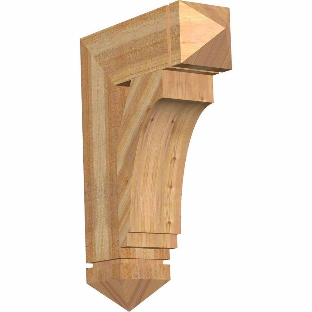 Ekena Millwork 6 in. x 28 in. x 20 in. Western Red Cedar Imperial Arts and Crafts Rough Sawn