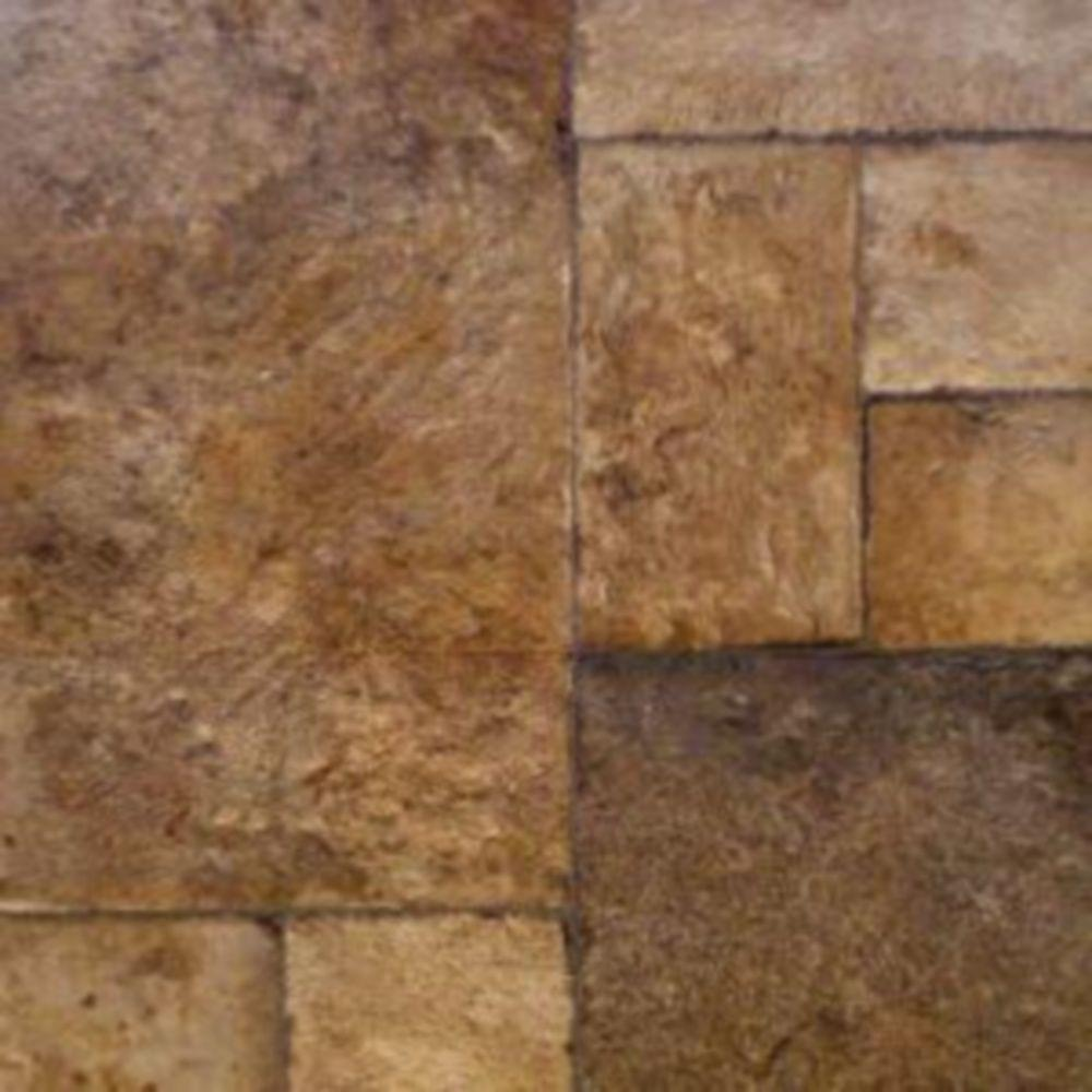Hampton Bay Tuscan Stone Bronze Laminate Flooring - 5 in. x 7 in. Take Home Sample-DISCONTINUED
