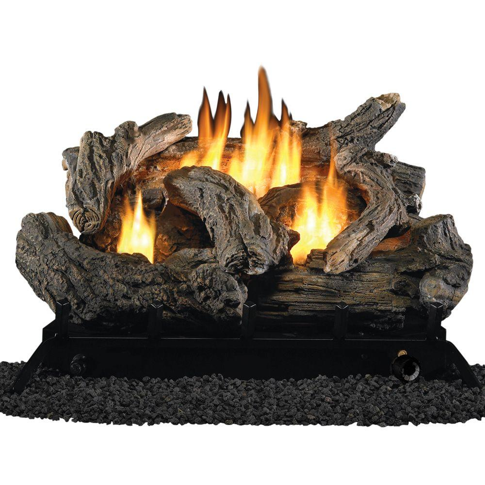 ProCom 24 in. Vent-Free Dual Fuel Gas Fireplace Logs