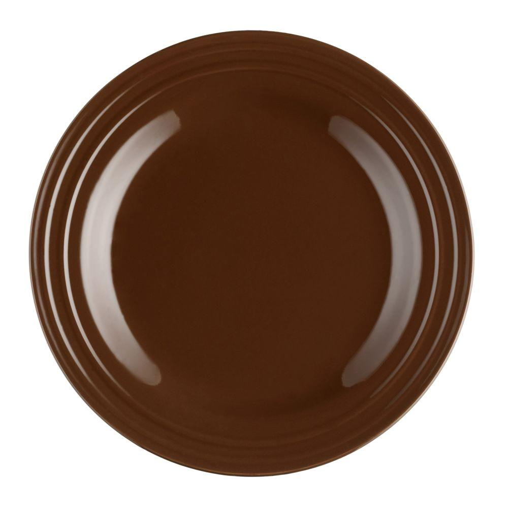 Rachael Ray Double Ridge 4-Piece Dinner Plate Set in Brown