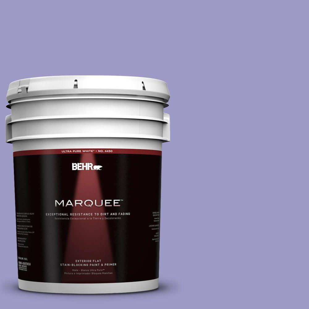 BEHR MARQUEE 5-gal. #630B-5 Majestic Violet Flat Exterior Paint
