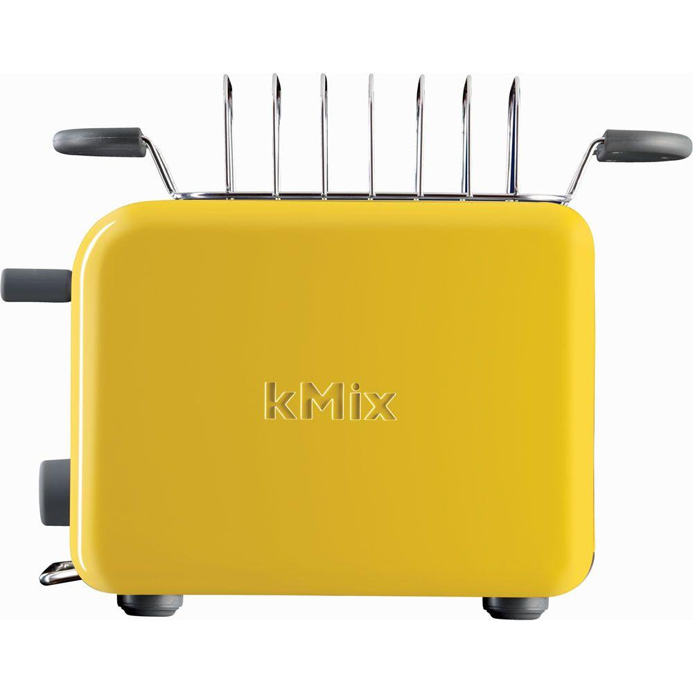 DeLonghi kMix 2-Slice Toaster with Bun Warmer in Yellow