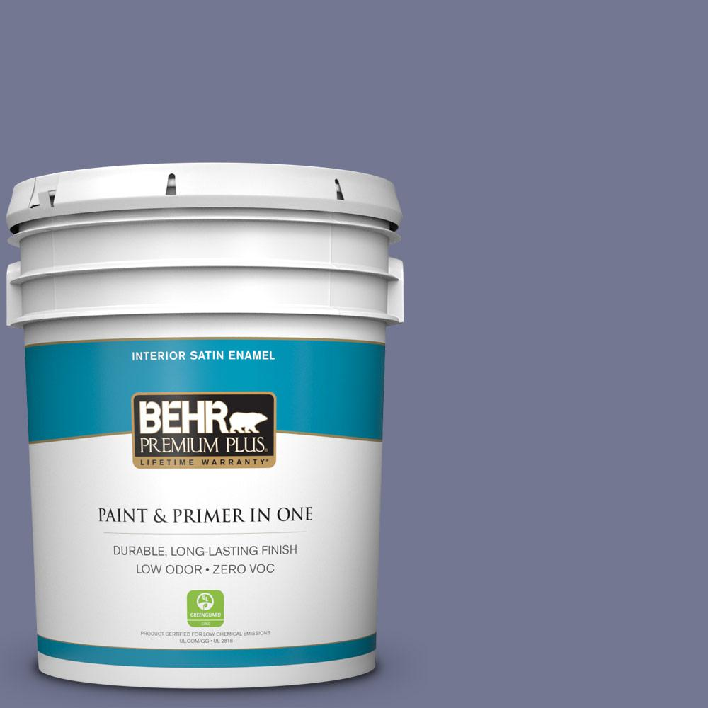 5-gal. #S560-5 Royal Fortune Satin Enamel Interior Paint