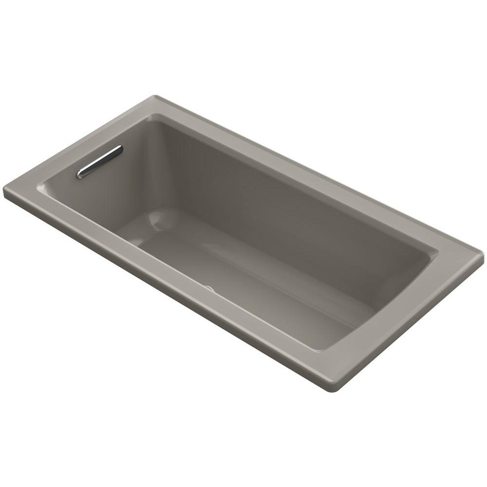 kohler archer 5 ft walk in whirlpool and air bath tub in cashmere