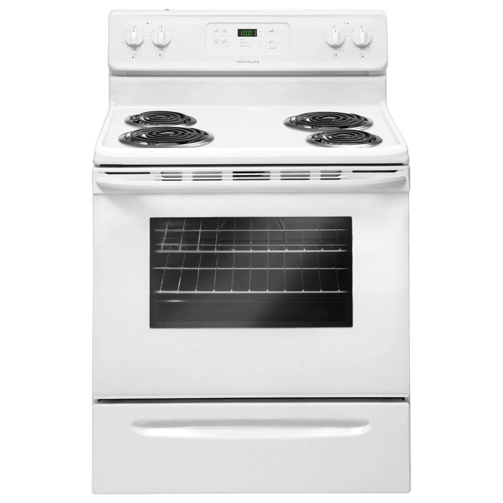 electric range with in white - Frigidaire Gallery Stove