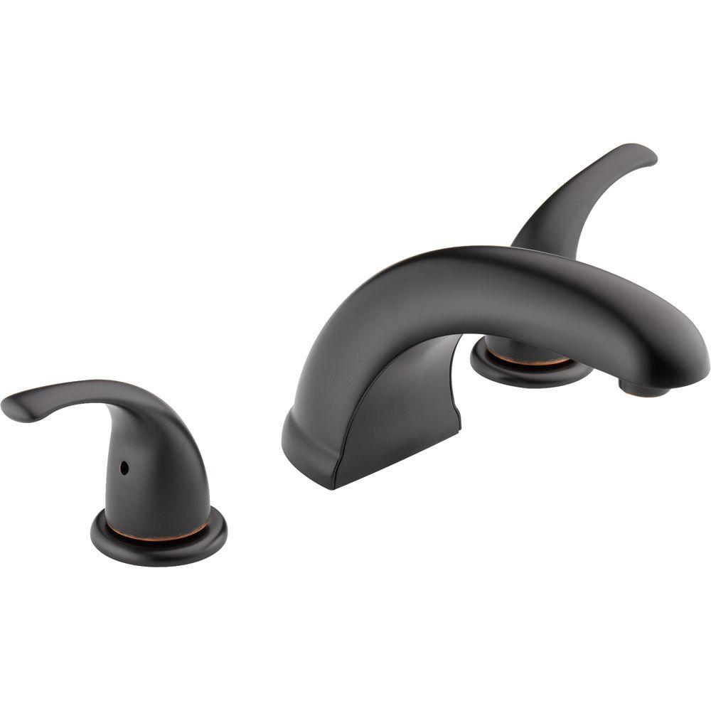 Peerless 2 Handle Deck Mount Roman Tub Faucet Trim Kit In Oil Rubbed Bronze Valve Not Included