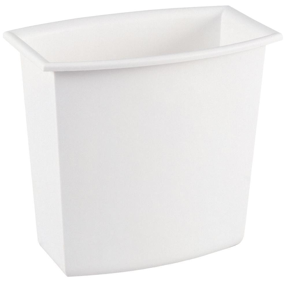 Sterilite 2 Gal. White Rectangular Vanity Trash Can-10228012 - The Home