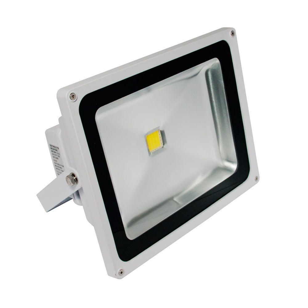 Irradiant 1-Head White LED Day Light Outdoor Wall-Mount Flood Light-FL-501-45-WH