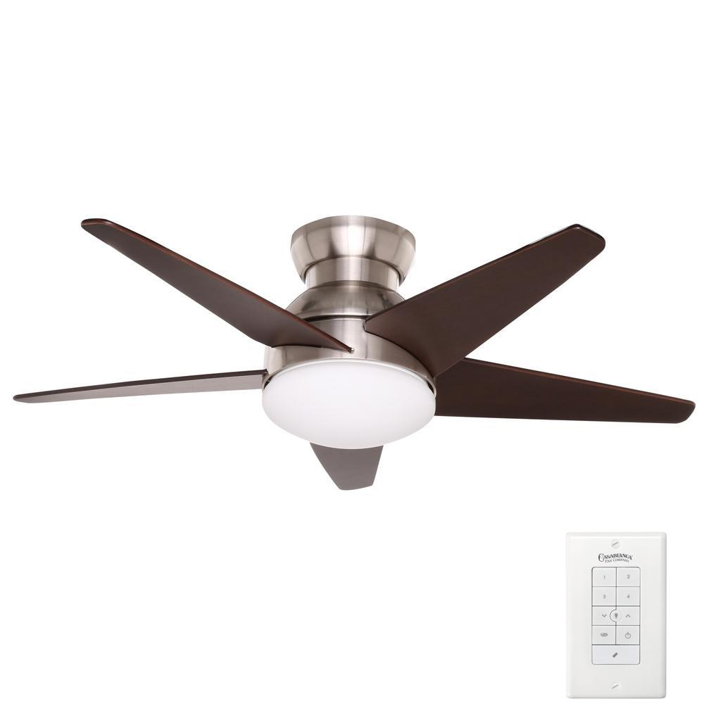 Isotope 44 in. Indoor Brushed Nickel Ceiling Fan with Light