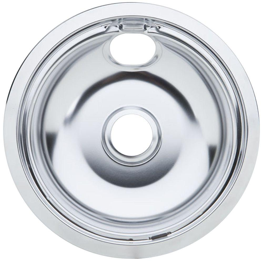 PartsmasterPro 8 in. Chrome Drip Pan for Non-GE Ranges