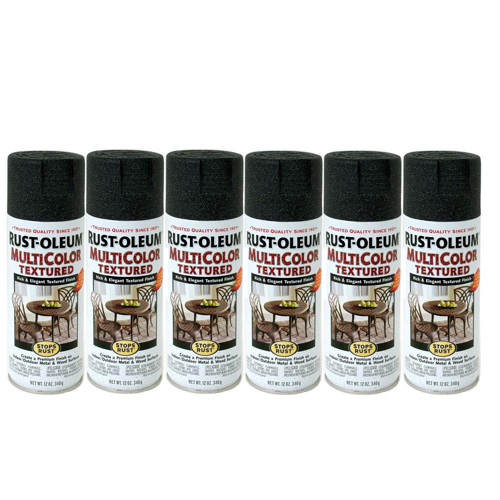 Rust-Oleum Stops Rust 12 oz. Gloss Aged Iron Textured Spray Paint (6-Pack)-DISCONTINUED