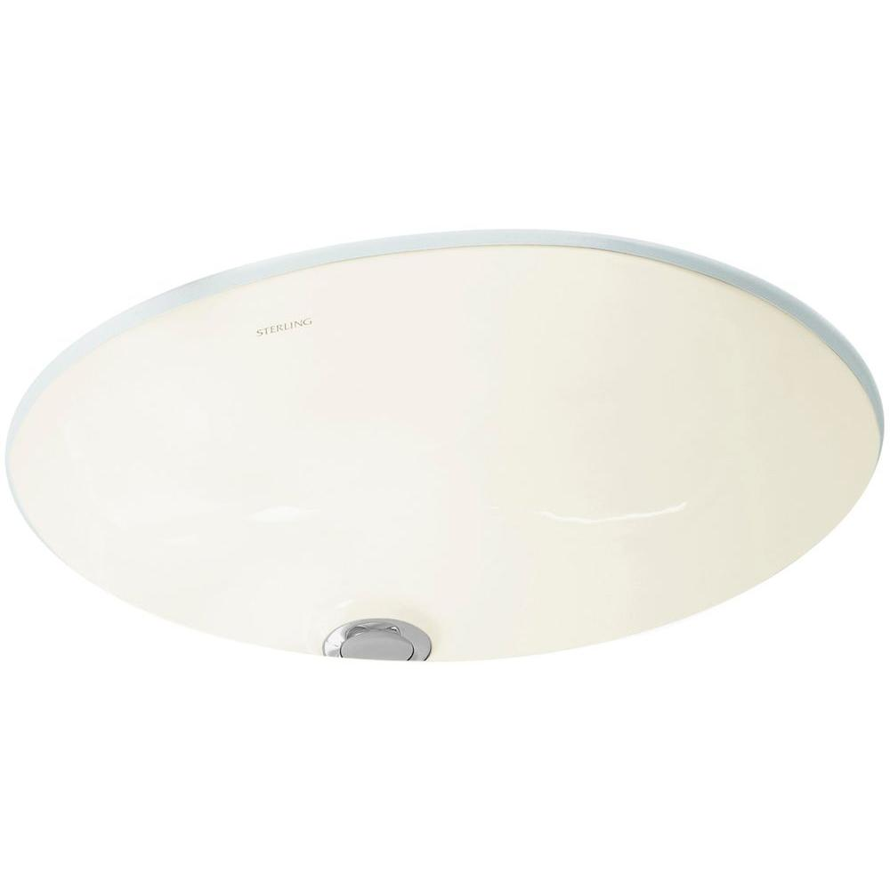 STERLING Wescott Vitreous China Undermount Bathroom Sink in Biscuit with Overflow Drain