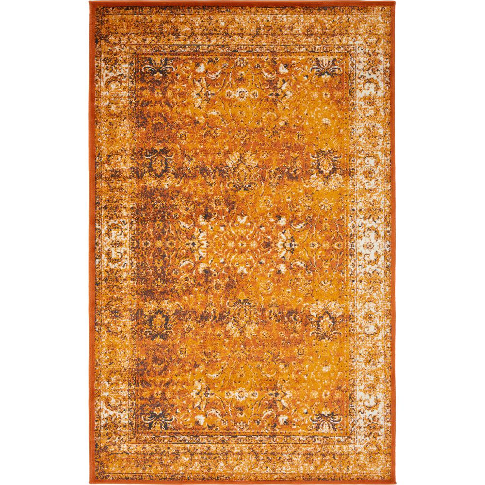 Linoleum Rug Turquoise Terracotta Area Rug Or Kitchen Mat: Unique Loom Istanbul Terracotta And Ivory 5 Ft. X 8 Ft